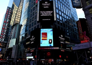 Nazemoff featured in Times Square